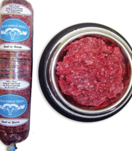 Blue Ridge Beef and Bone raw dog food